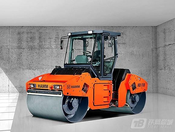 悍马HD110双钢轮压路机