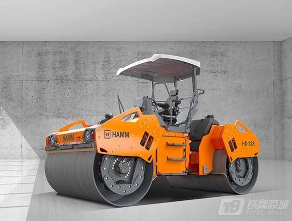 悍马HD128双钢轮压路机