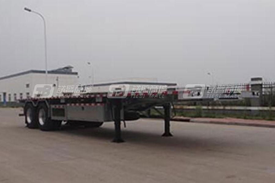 中国重汽QDZ9290TPB平板运输半挂车