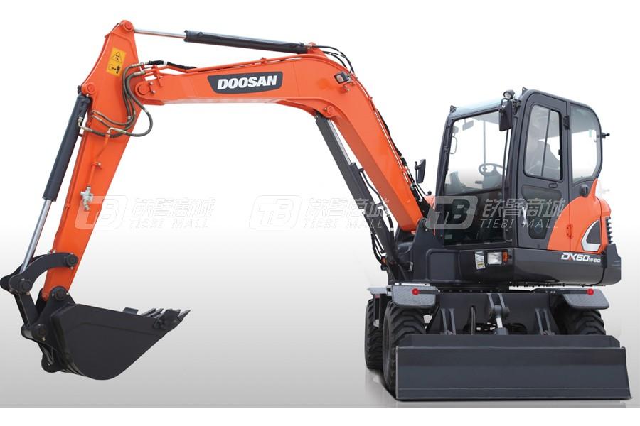 斗山DX60W-9C轮式挖掘机